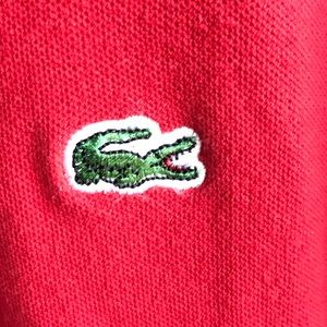 Lacoste Shirts - Lacoste Men's Classic Red Short-Sleeve Polo